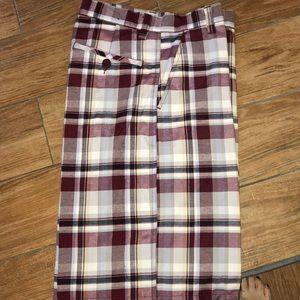 Grandeur plaid shorts size 30